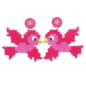 Red Lovebird Earrings